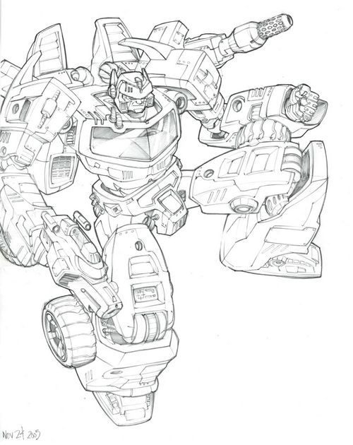 Robots Transformers Art Military Robot Colouring Pages