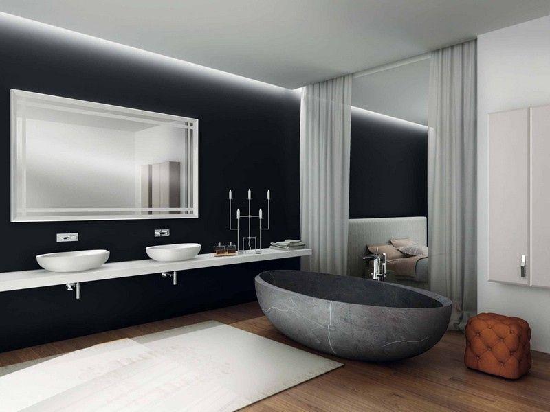 Aufsatzwaschbecken mit ovaler Form aus Keramik | Badezimmer ...