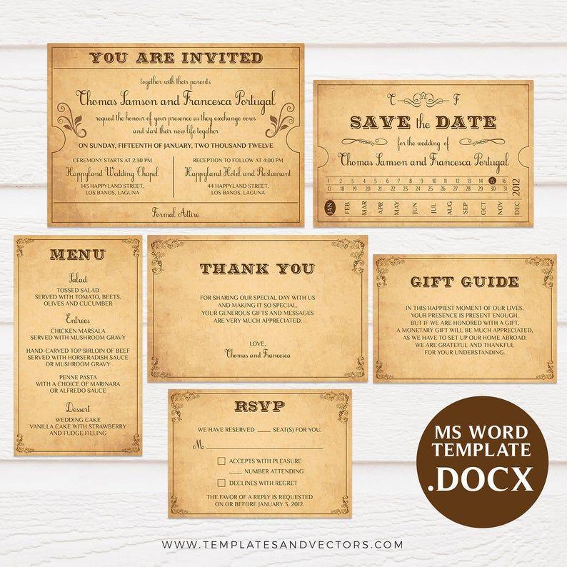 Vintage Train Ticket Wedding Invitation Template Ticket Wedding Invitations Wedding Invitation Templates Invitation Template
