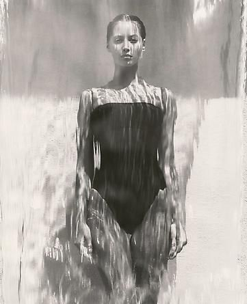 Supermodel Christy - Waterfall, Los Angeles, 1988