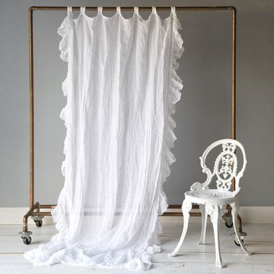 Charming Bella Notte Curtain Panel Whisper Linen With Ruffle I Will Try To Make  Something Similar To
