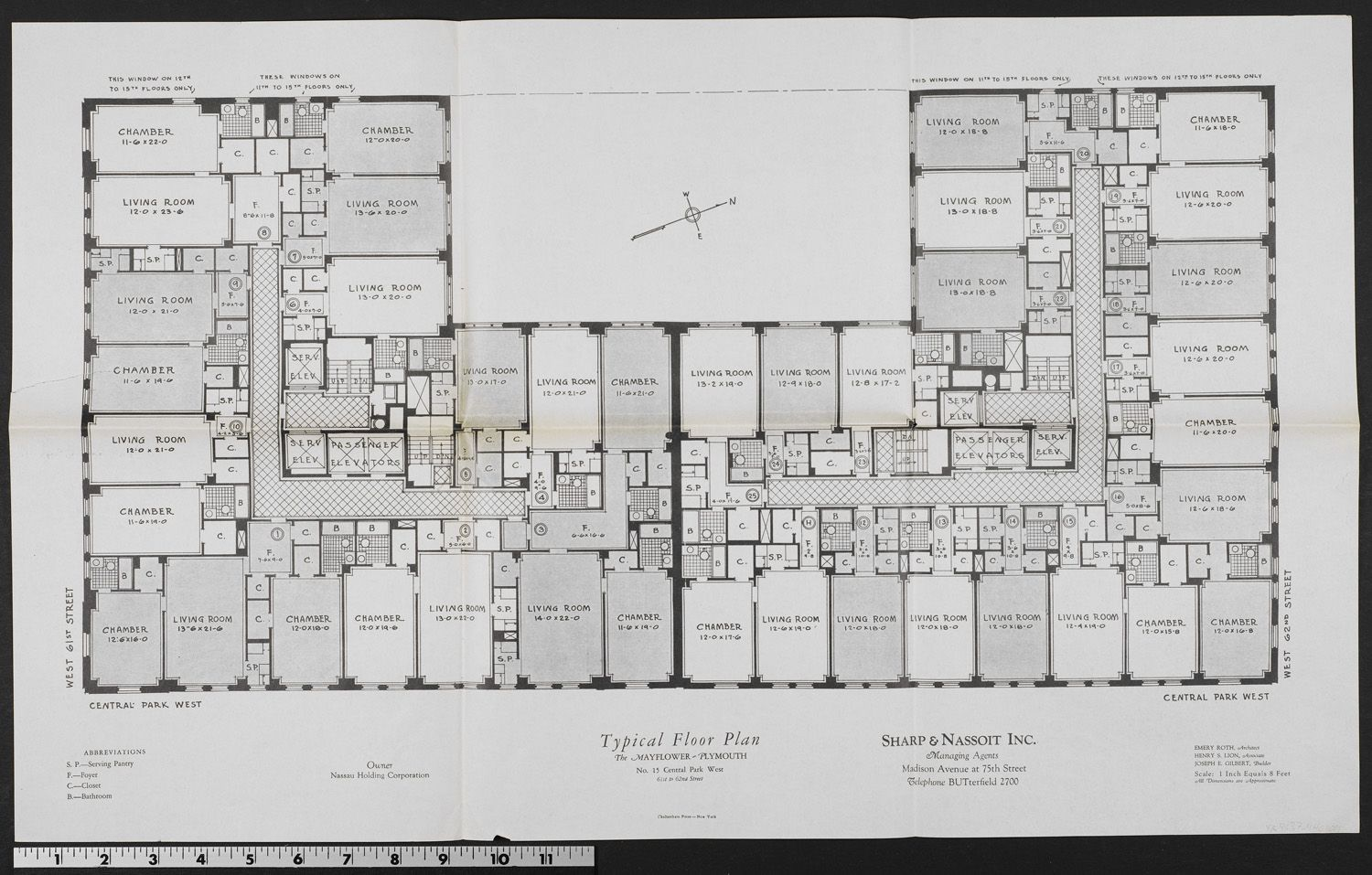 Floor plan for The Mayflower Plymouth. The building was comprised of ...