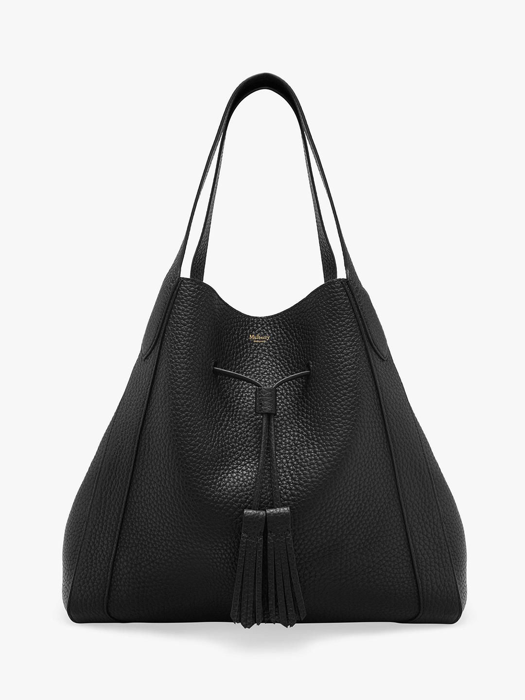 Mulberry Millie Heavy Grain Leather Tote Bag, Black #mulberrybag