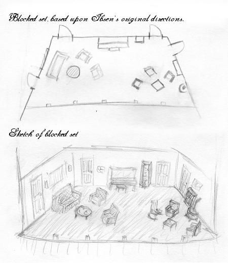 A block design of the set, and a sketch formed from the
