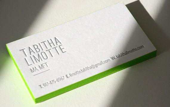 300 Letterpress Business Cards 1 Color Side Rives 400 Gsm Paper