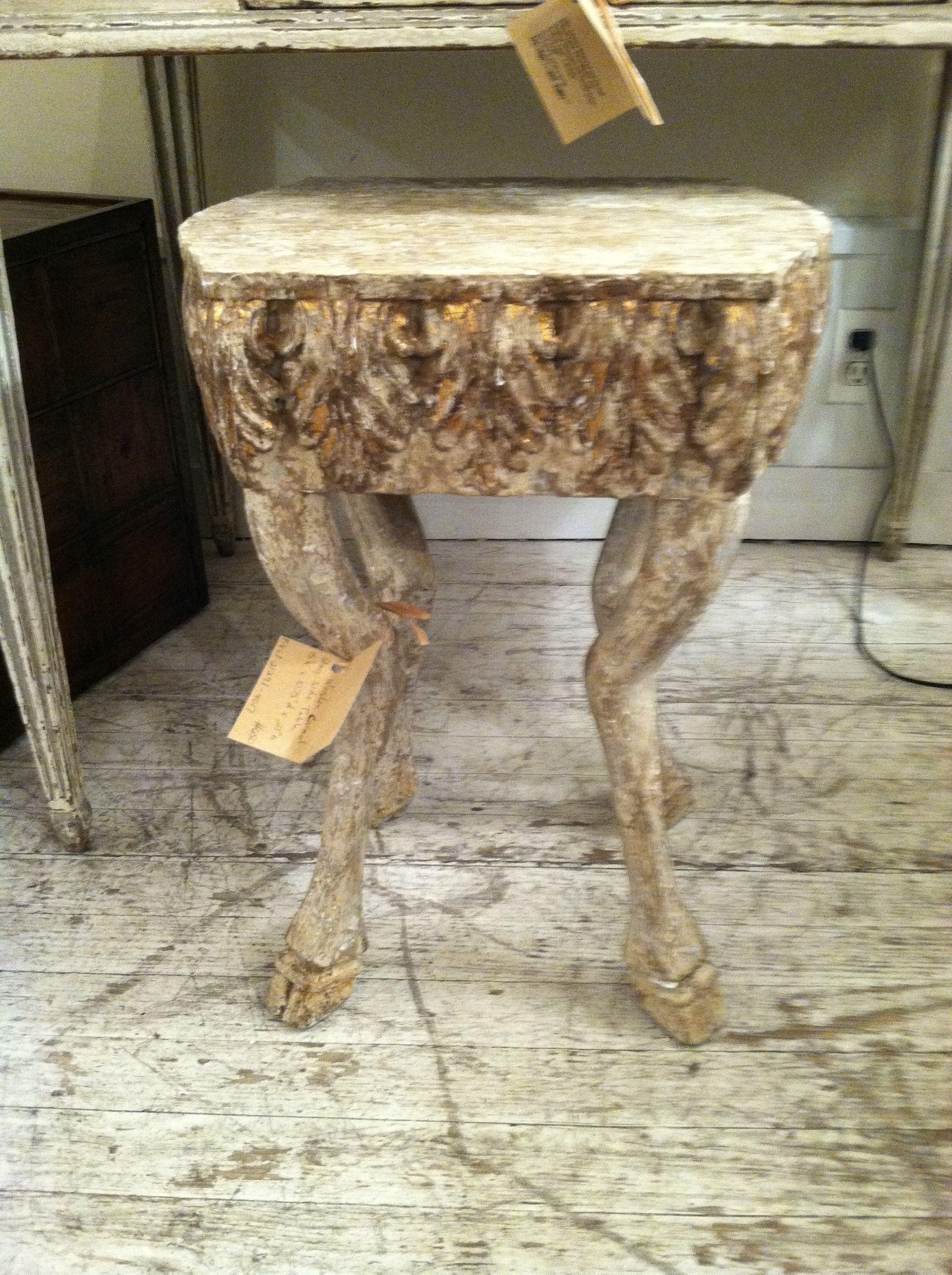 wood animal leg stool Mecox tooo funny curiosities