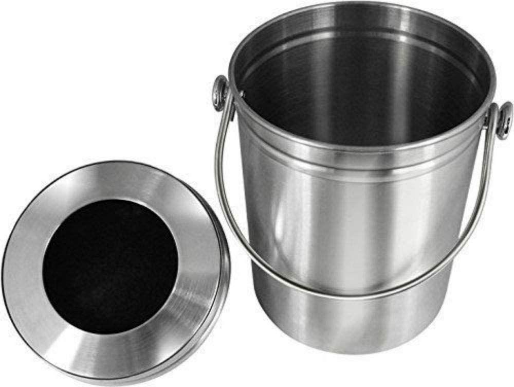 Compost Bin Kitchen Indoor Outdoor Countertop Charcoal Filter 1 3