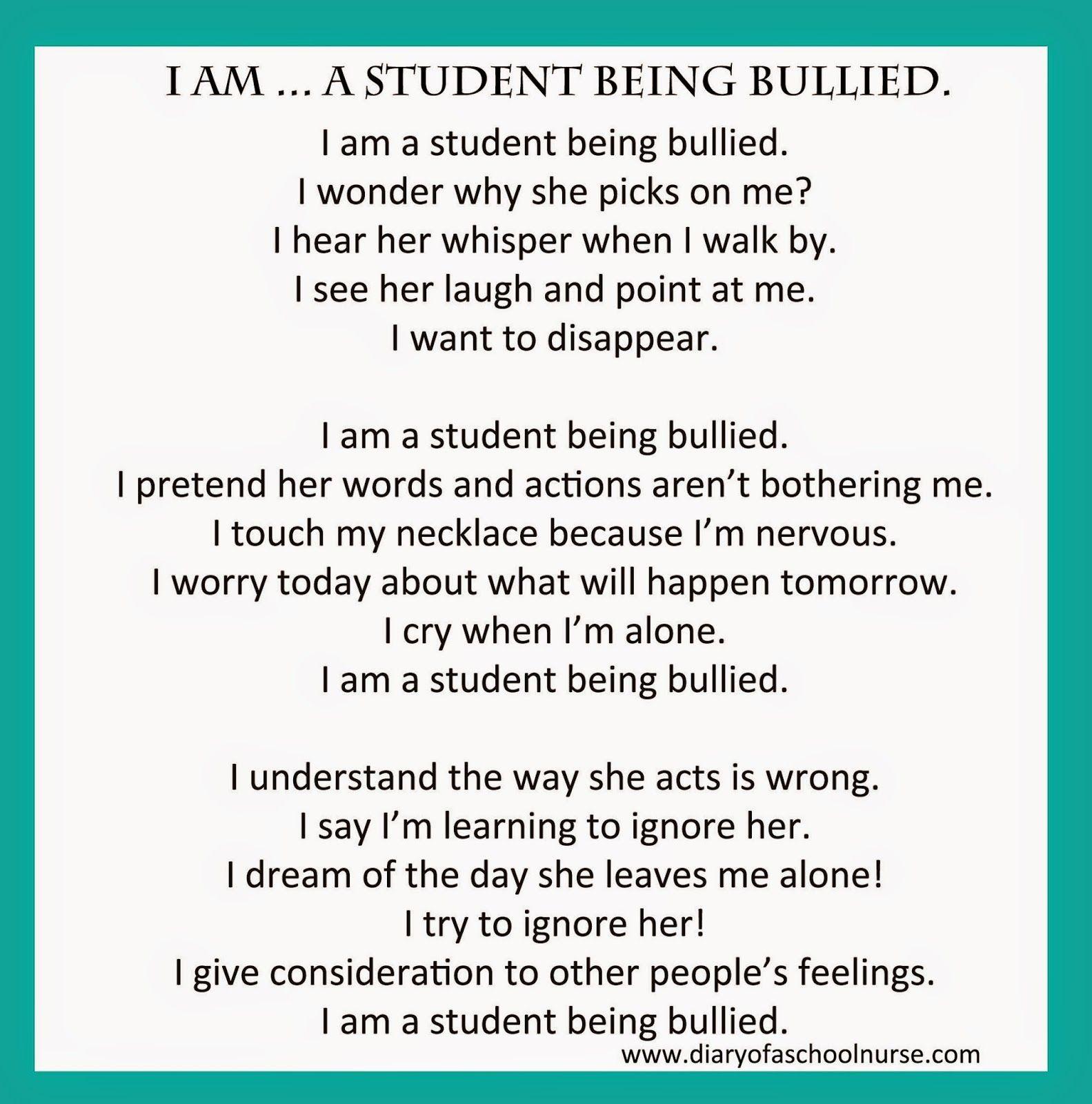 Diary Of A School Nurse Bullying