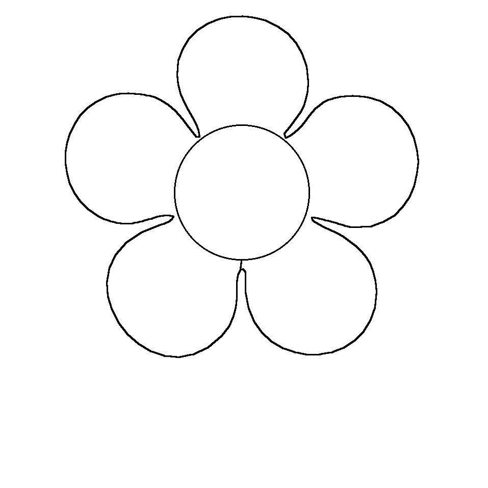 Dibujos De Flores De 5 Petalos Para Colorear Dibujos De Flores Petalo Dibujos