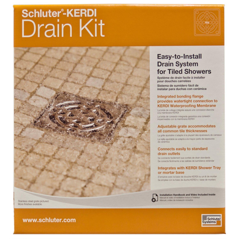 Schluter Kerdi Drain Stainless Steel Pvc Drain Kit Shower Installation Floor Drains Shower Kits