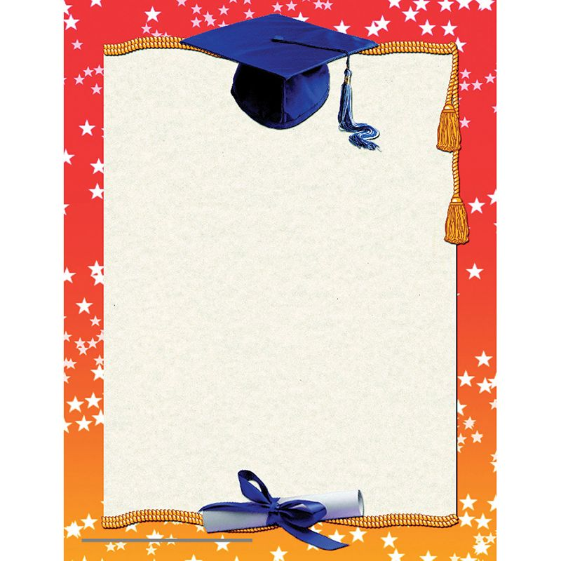 graduation certificate border computer paper create your own awards
