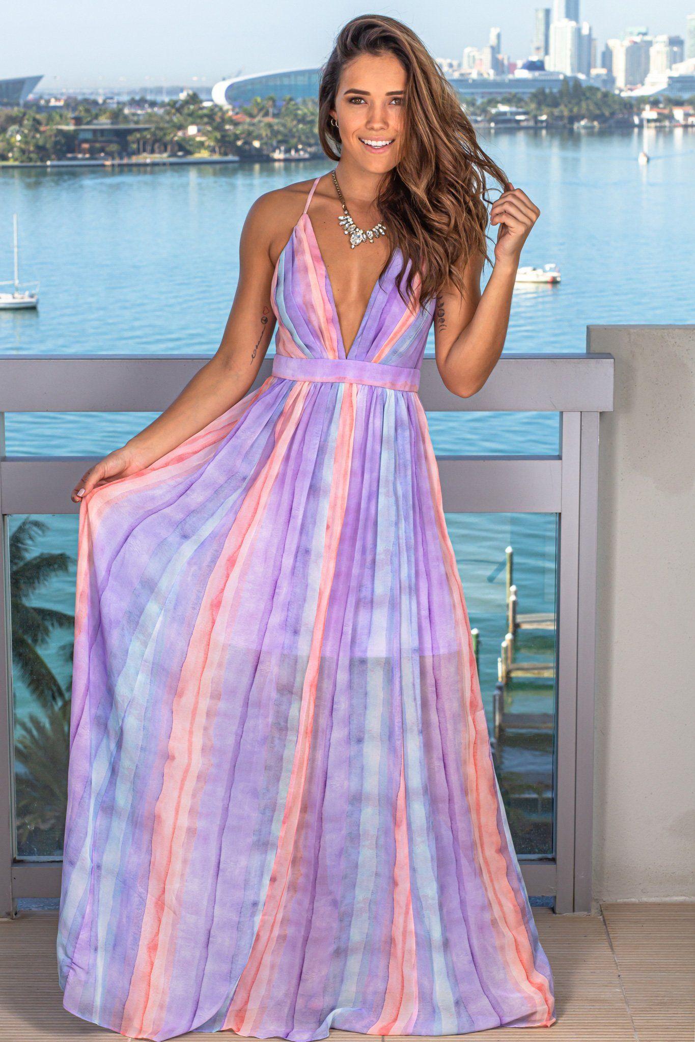 Lilac Rainbow Maxi Dress Maxi Dresses Saved By The Dress Maxi Dress Dresses Saved By The Dress [ 2047 x 1365 Pixel ]