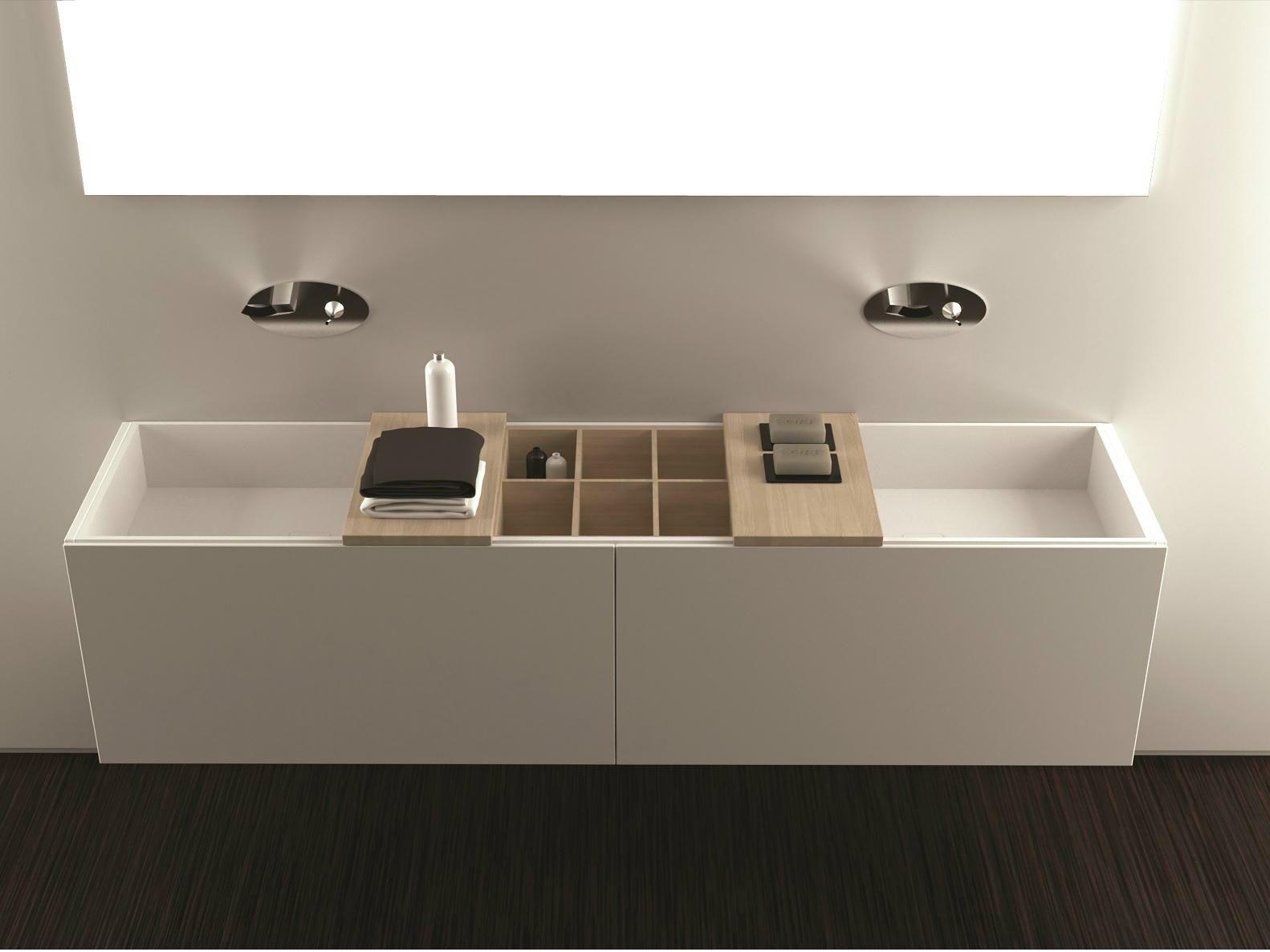 Vasque Sous Plan Double En Corian Canasta By Moma Design By