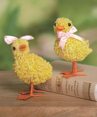 Duck Figurine - Set of Two #zulily #zulilyfinds