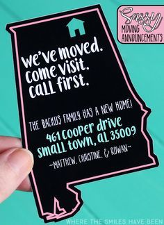 Diy Sassy Moving Announcements Huge Font Giveaway Our Home