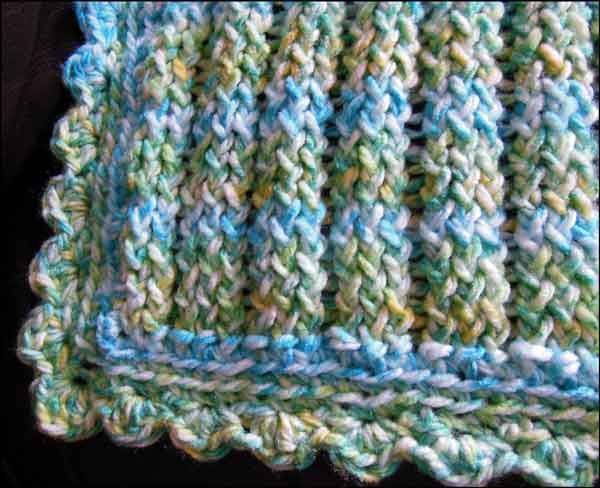 Knitting With Looms Finished Baby Boy Stroller Blanket Loom Knit