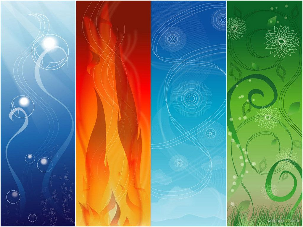 Download Four Elements Wallpaper Free Wallpaper Art Earth Air Fire Water Background Hd Wallpaper