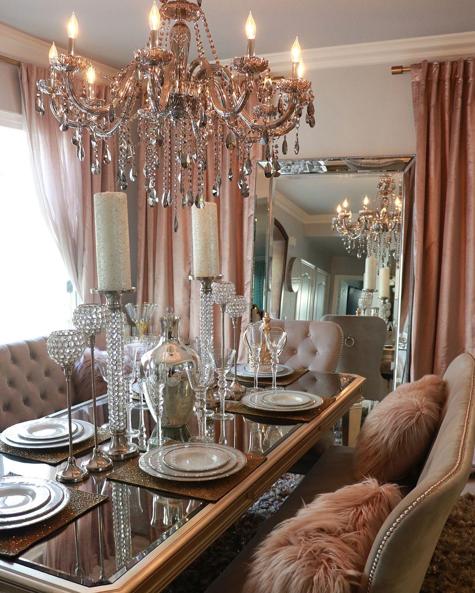 Dinning Room Gorgeous Dusty Blush Cotton Luster Velvet