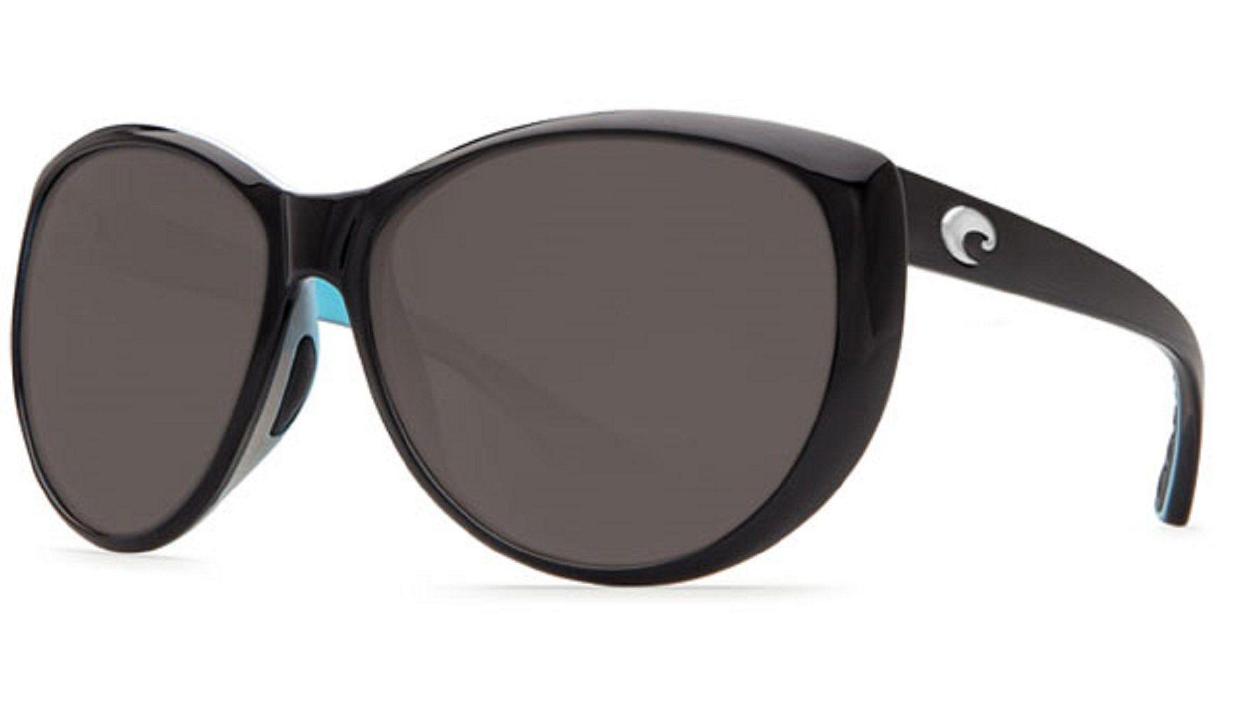 NEW* COSTA Del Mar LA MAR Black POLARIZED 580P Blue Womens Sunglass LM 87
