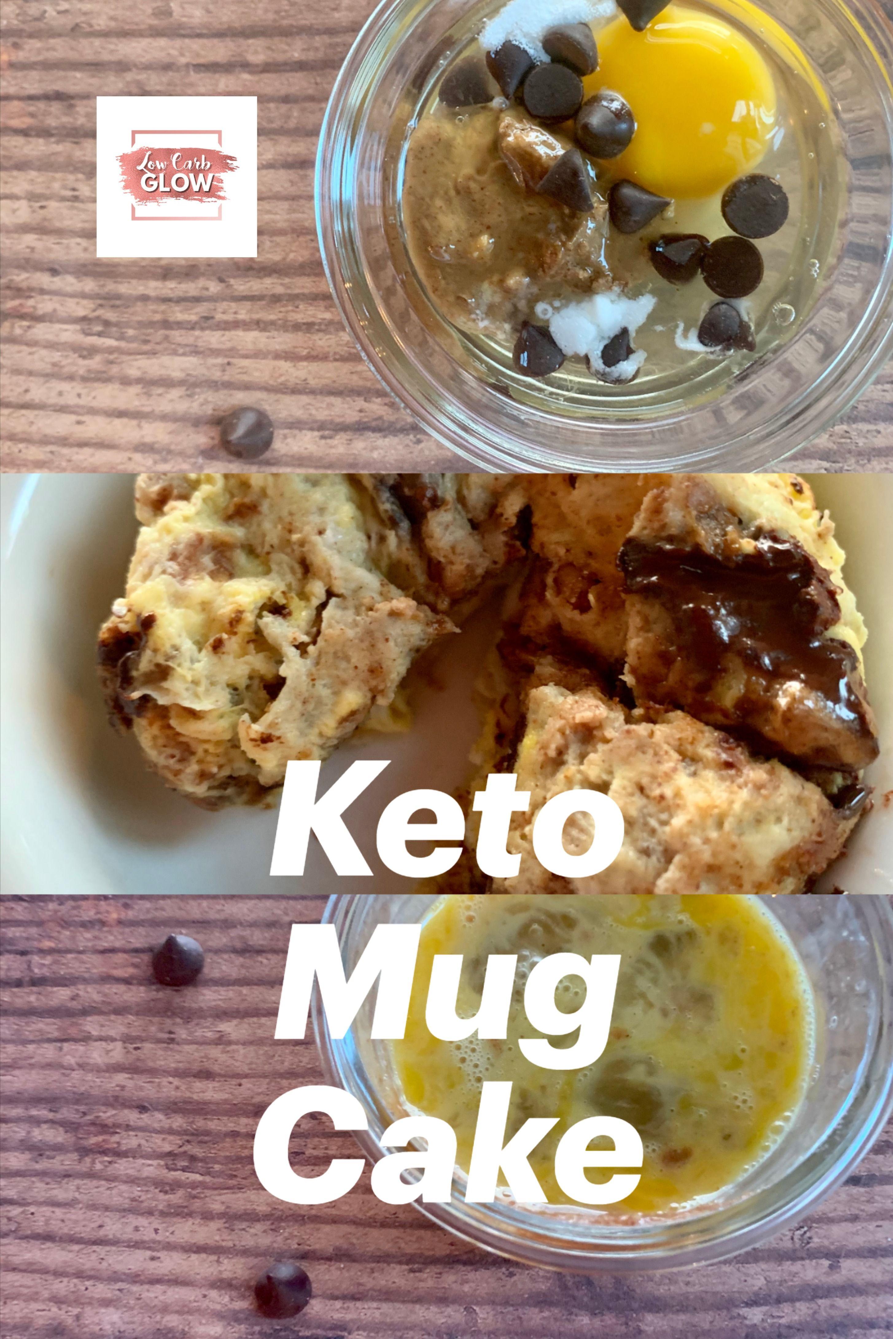 KETO CHOCOLATE CHIP MUG CAKE - Low Carb Glow   Recipe ...