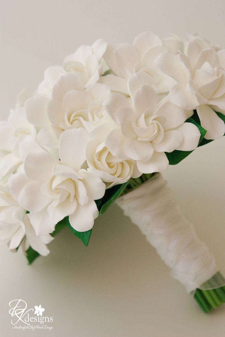 Pin by deb twynam on wedding bells 5 pinterest wedding couture clay gardenia wedding bouquet made to by dkdesignshawaii izmirmasajfo Choice Image