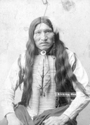 Kicking Bear, a Sioux man who joined Buffalo Bill's Wild West Show