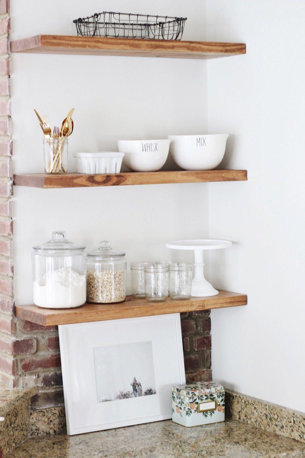 diy open shelving floating shelves garvin u0026 co blog