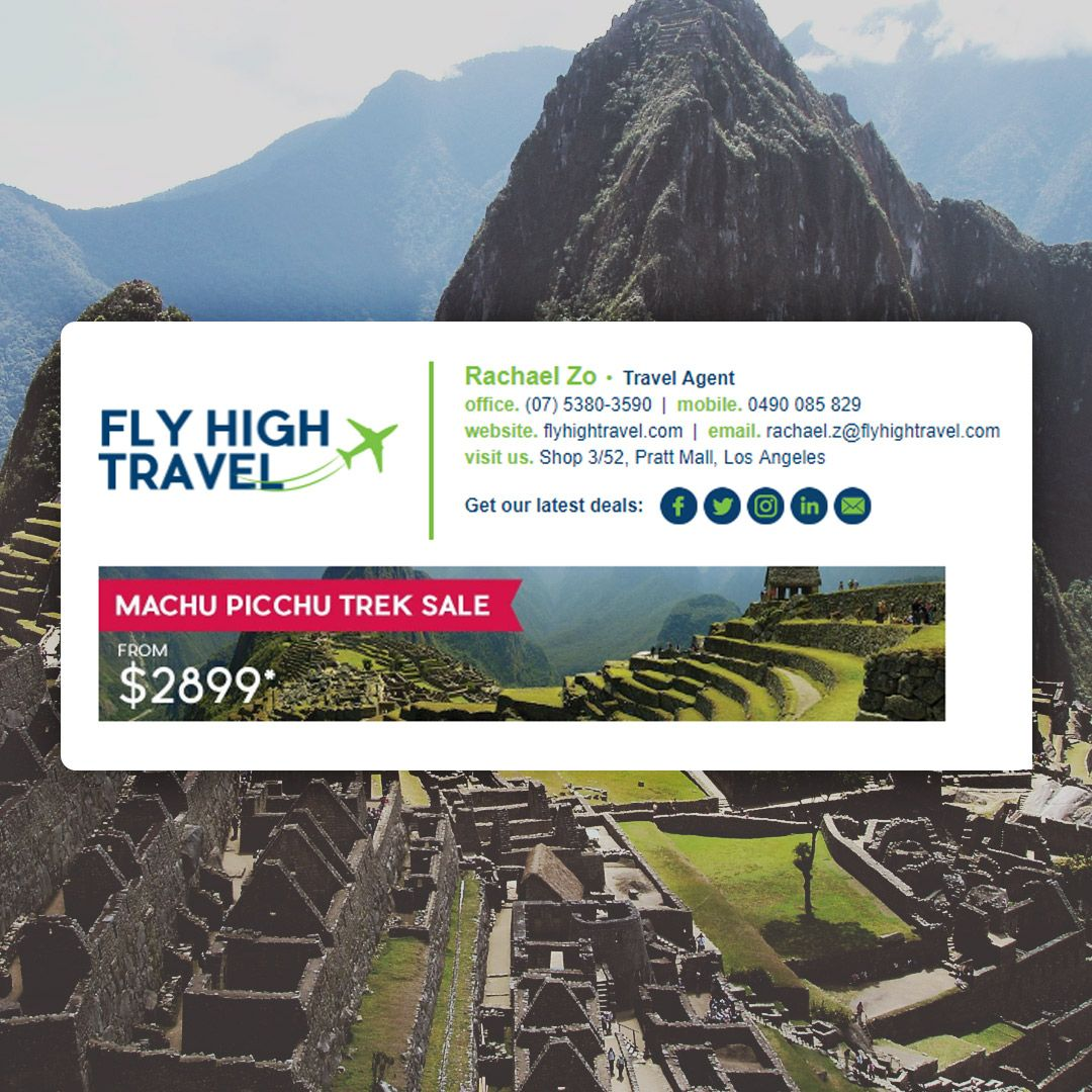 Fly High Travel Showing Email
