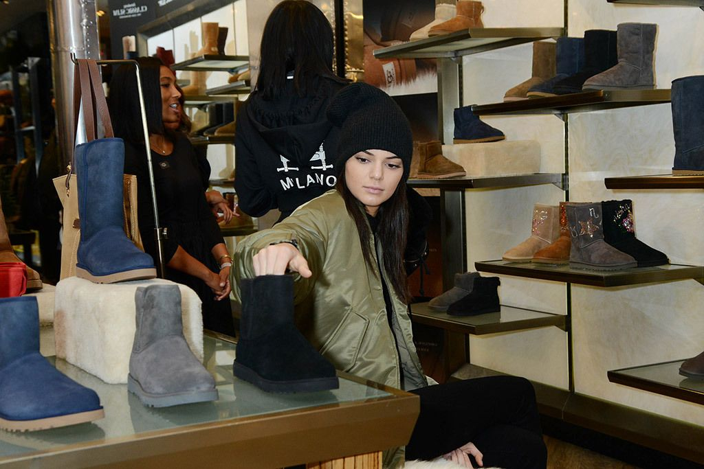 Kendall starting her holiday shopping a little early while in NYC.
