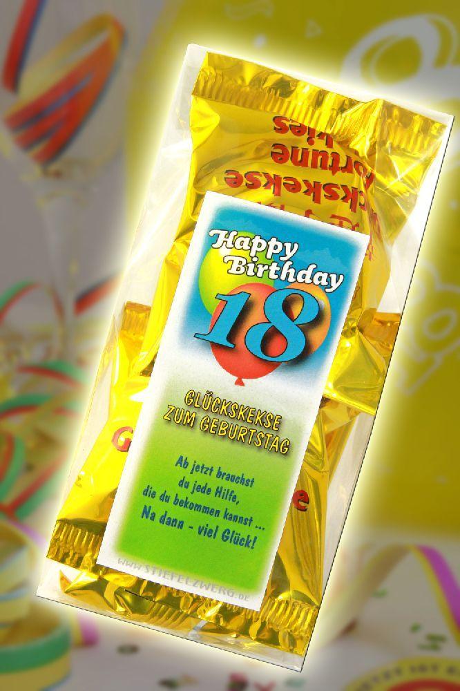 Glückskekse zum 18 Geburtstag