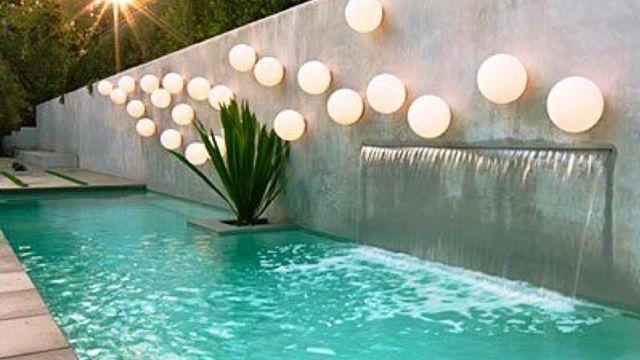 decoracin exterior iluminacin de piscinas - Decoracion De Piscinas