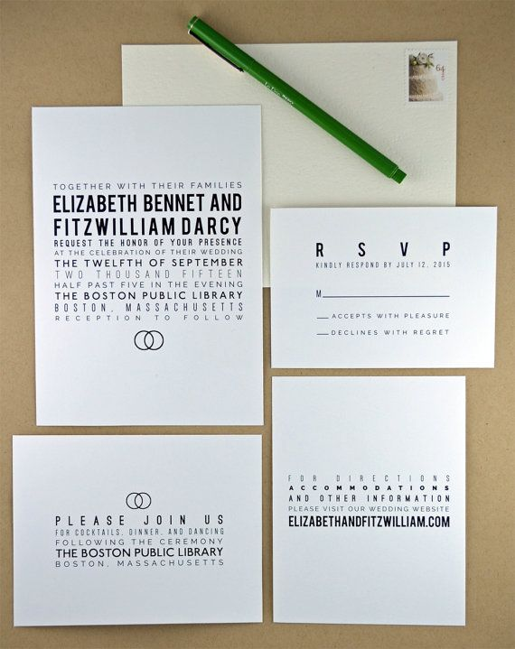Printable diy wedding invitation modern minimalist typography a beautiful diy printable wedding invitation suite featuring modern minimalist typography and a wedding band motif in urbane black and white stopboris Gallery