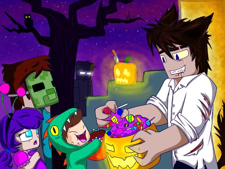 Happy Halloween! D by Vruzzt Minecraft anime, Minecraft