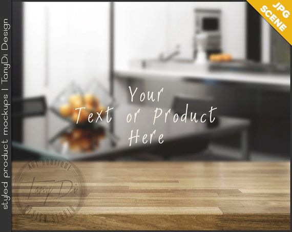 Kitchen Table Top Background empty table top kt-c2 | kitchen light wood table styled scene | 8