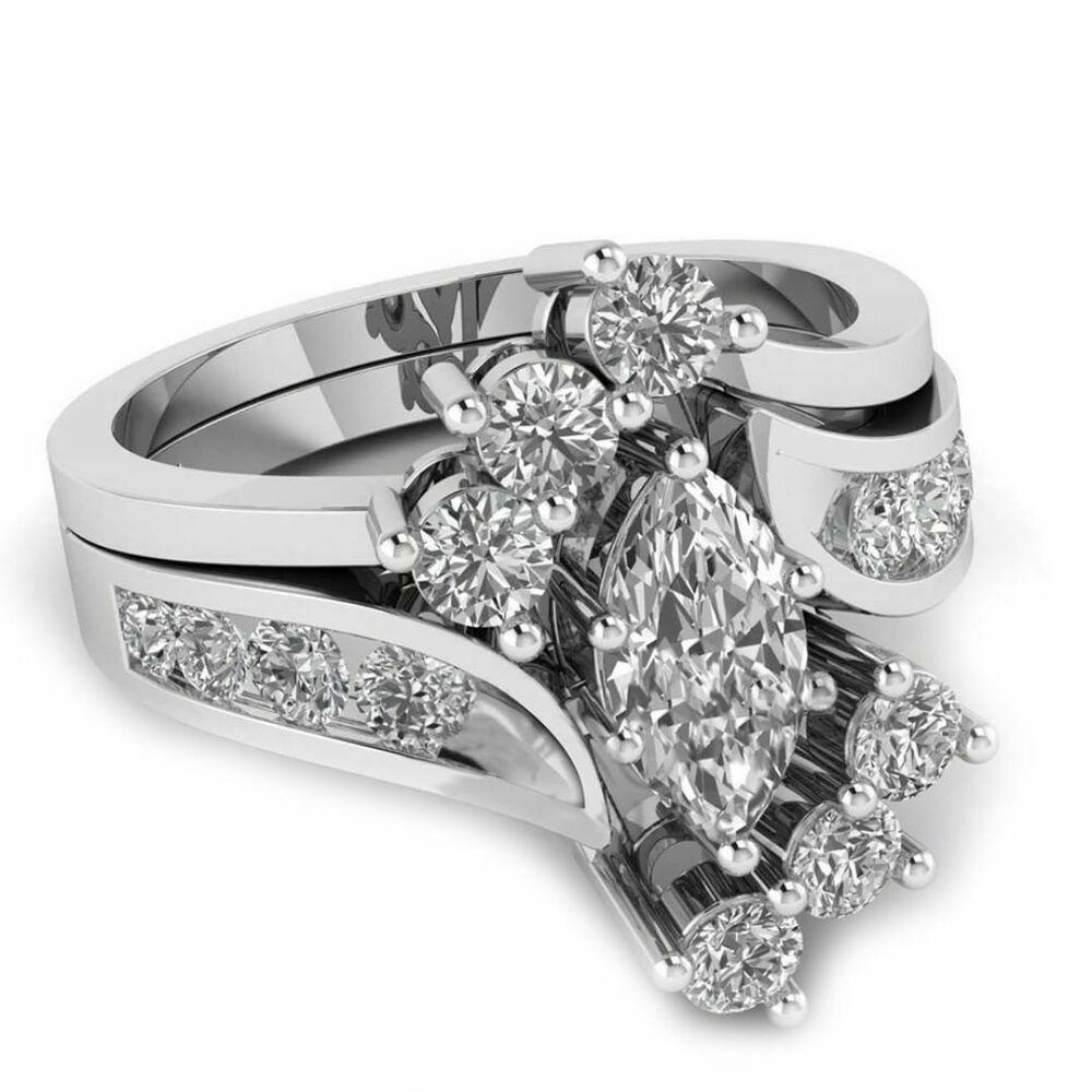 2.50 Carat Marquis Cut Diamond 14K Yellow Gold Finish Wedding Engagement Ring