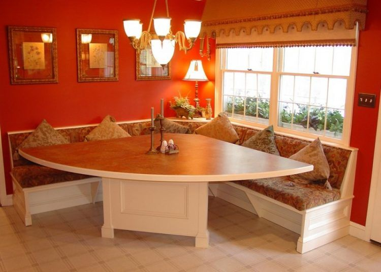 Traditional Dining Room Wider Triangle Dining Table With White