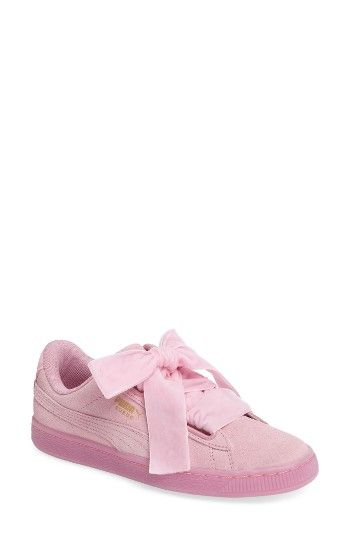 f841247b226f9a Free shipping and returns on PUMA Suede - Heart Sneaker (Women) at  Nordstrom.com. Ribbon laces provide a pretty finishing touch for a classic PUMA  sneaker ...
