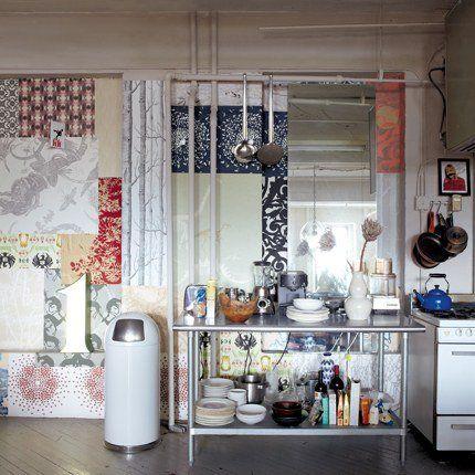 Un loft comme un magasin de design, à Brooklyn    Pour en savoir plus : La cuisine en patchwork - Marie Claire Maison