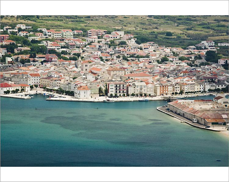 Photograph-Croatia, Zadar Region, Pag Island, Pag Town, Pag Island view-10