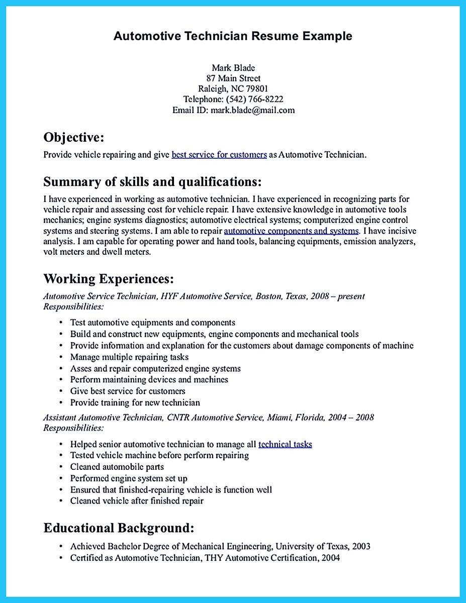 sample resume for auto technician automotive technician resume skills automotive technician resume - Automotive Resume Sample