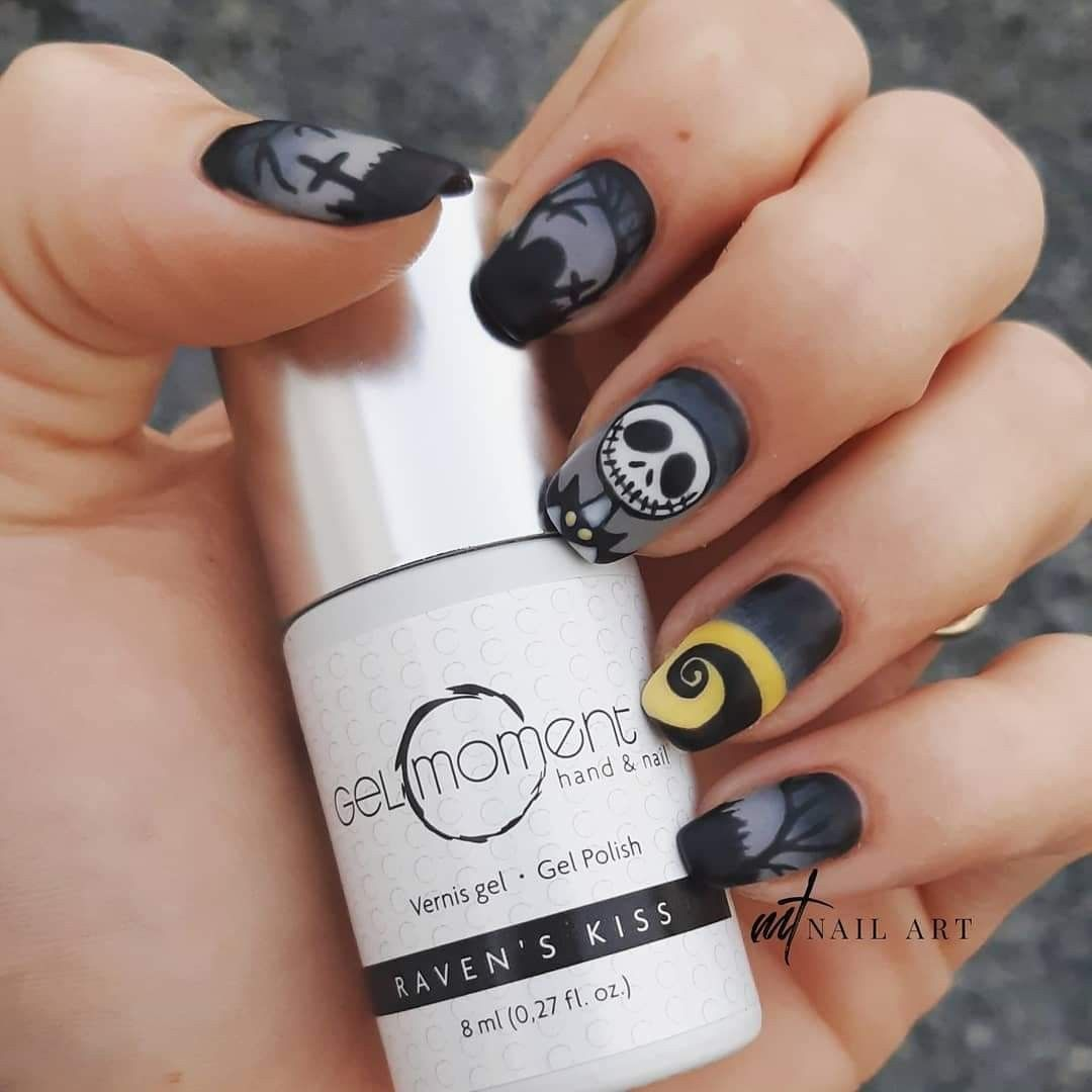 The Nightmare Before Christmas Nail Art By Meghan Tirk Christmas Nails Nails Christmas Nail Art Designs
