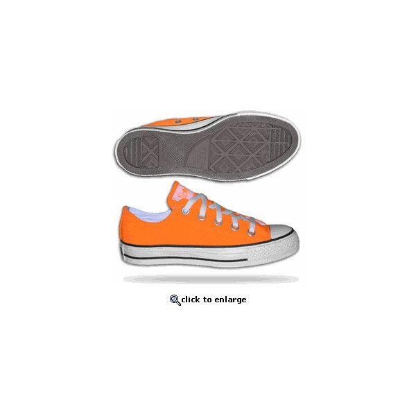 Converse All Stars Chuck Taylor Low Neon Orange found on Polyvore featuring polyvore