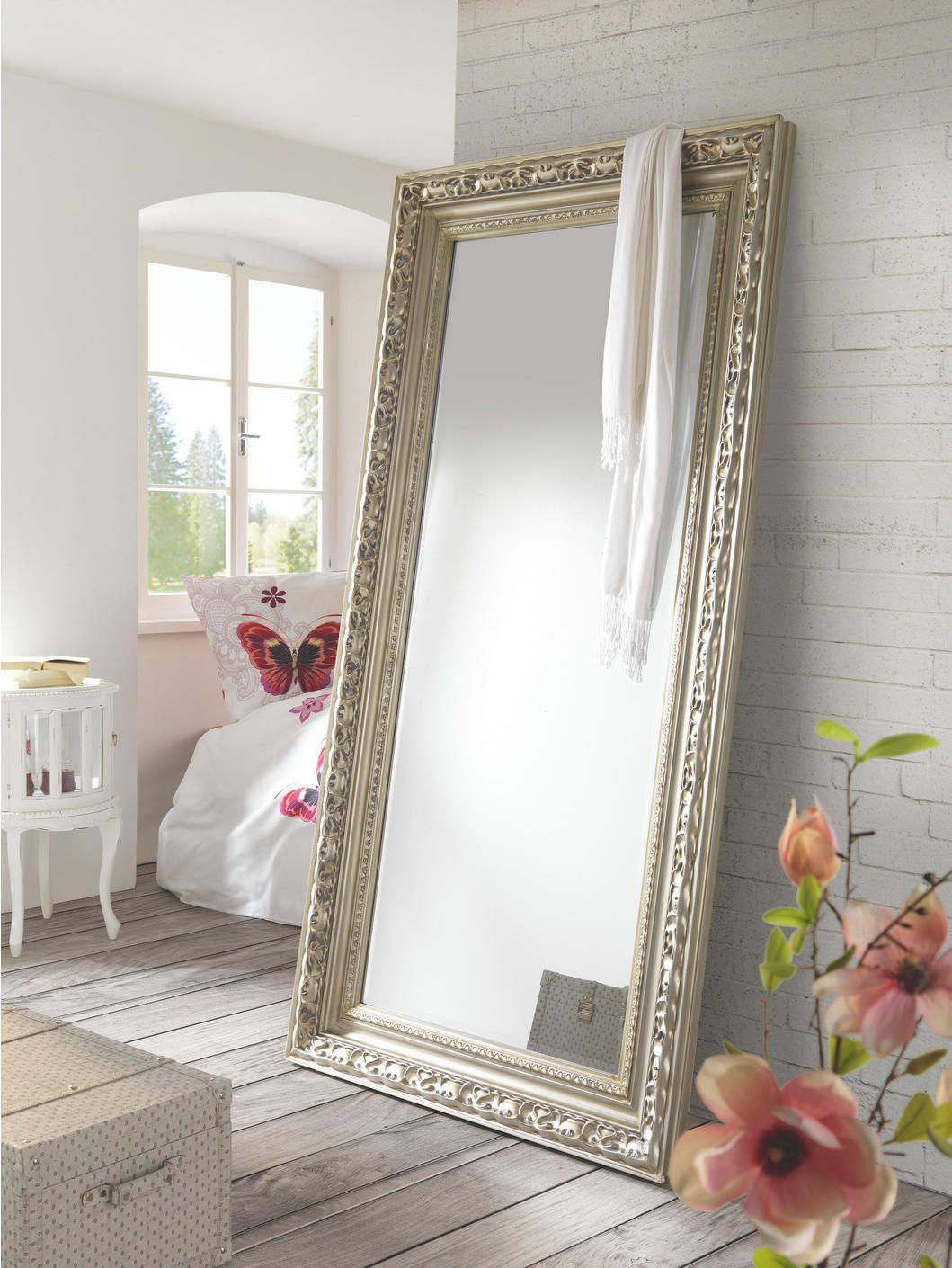 Spiegel Rahmen Metall  Wandspiegel, Wohnzimmer spiegel