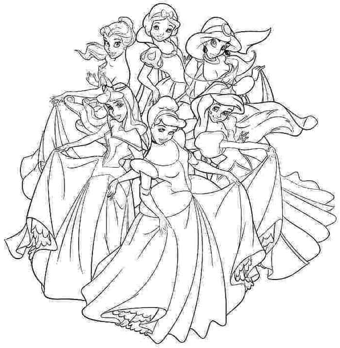 Free Disney Princess Coloring Pages 1 In 2021 Princess Coloring Pages Princess Coloring Disney Princess Coloring Pages