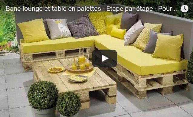 Tutoriel : construire son salon de jardin en bois de palettes en ...