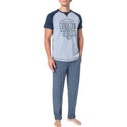 Photo of Jockey Herren Schlafanzug Pyjama, Baumwolle, blau gemustert JockeyJockey