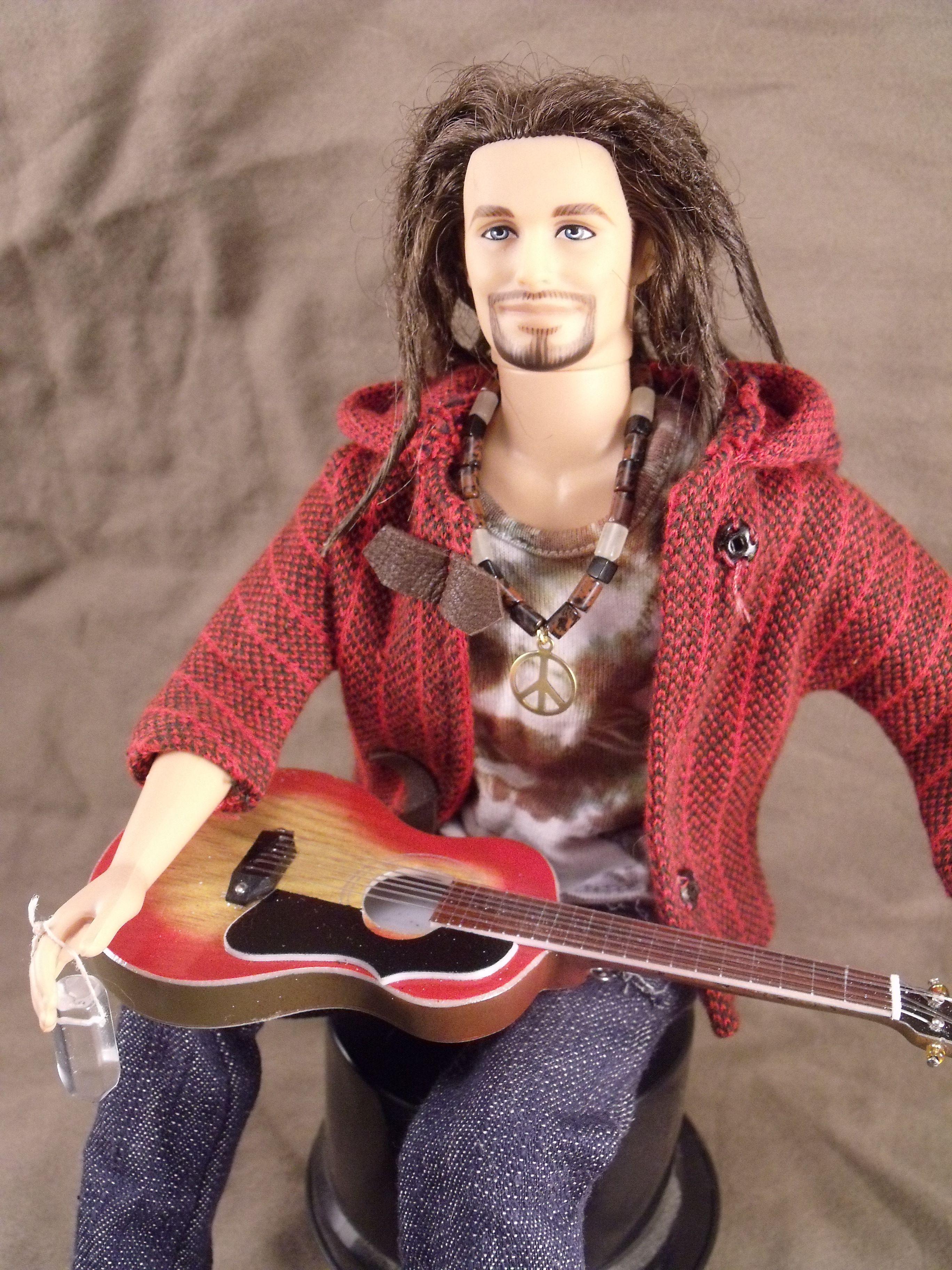 Barbie Ken Doll As A Woodstock Hippie With Dreadlocks