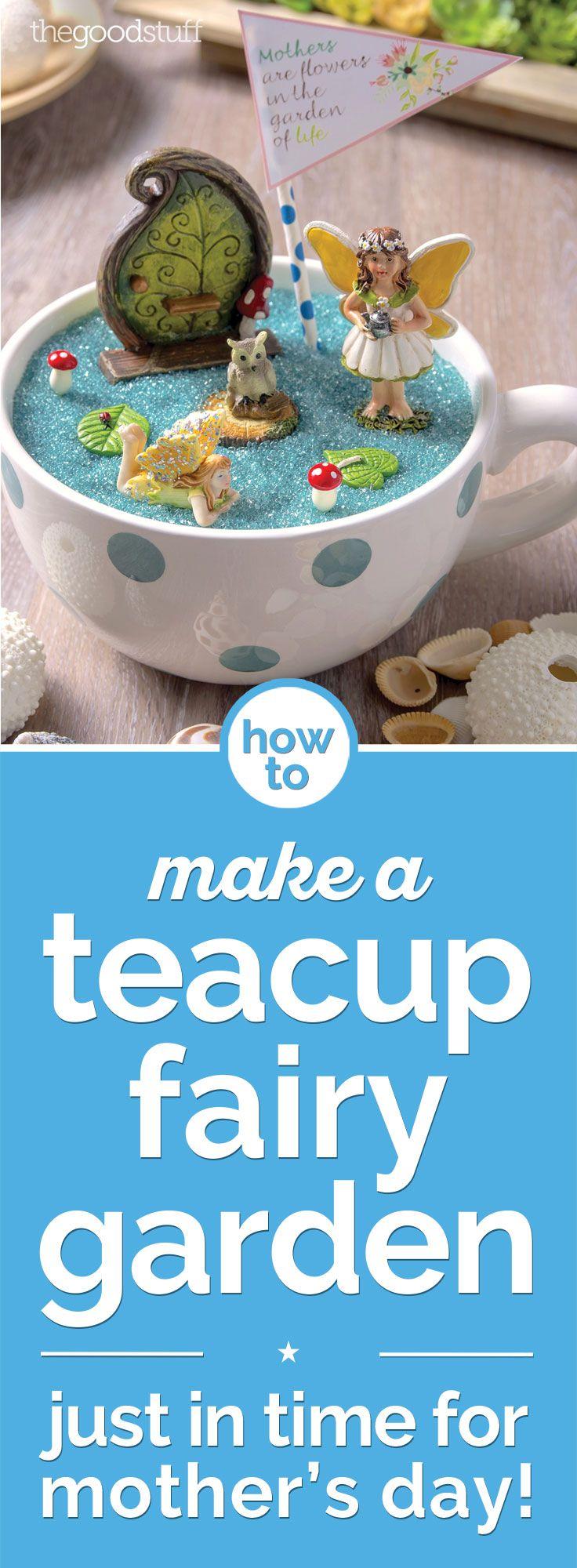 How To Make A Fairy Garden In A Teacup Coupons Com Fairy Garden Tea Cups Fun Crafts