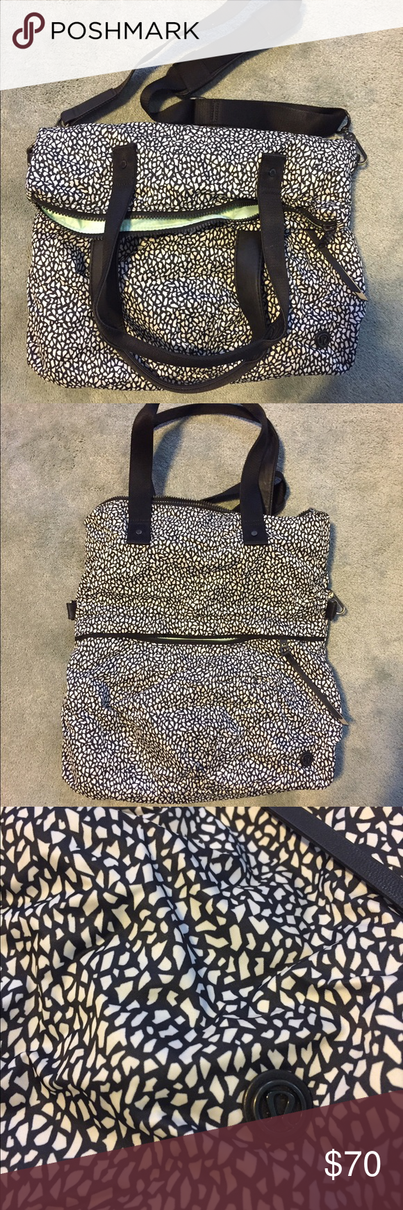 90fad66c7e lululemon twice as nice tote 2 in 1 convertible bag. Cross body strap  detaches.
