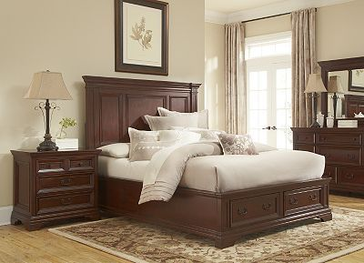 Classic but transitional our Turner bedroom collection offers that
